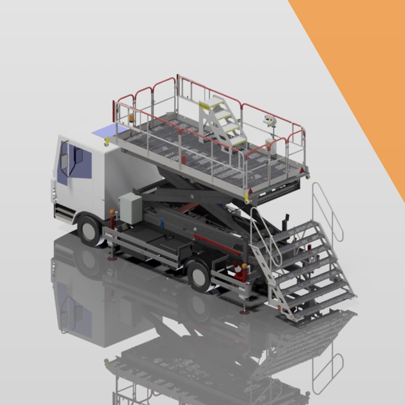 Medium vehicle mounted scissor lifts