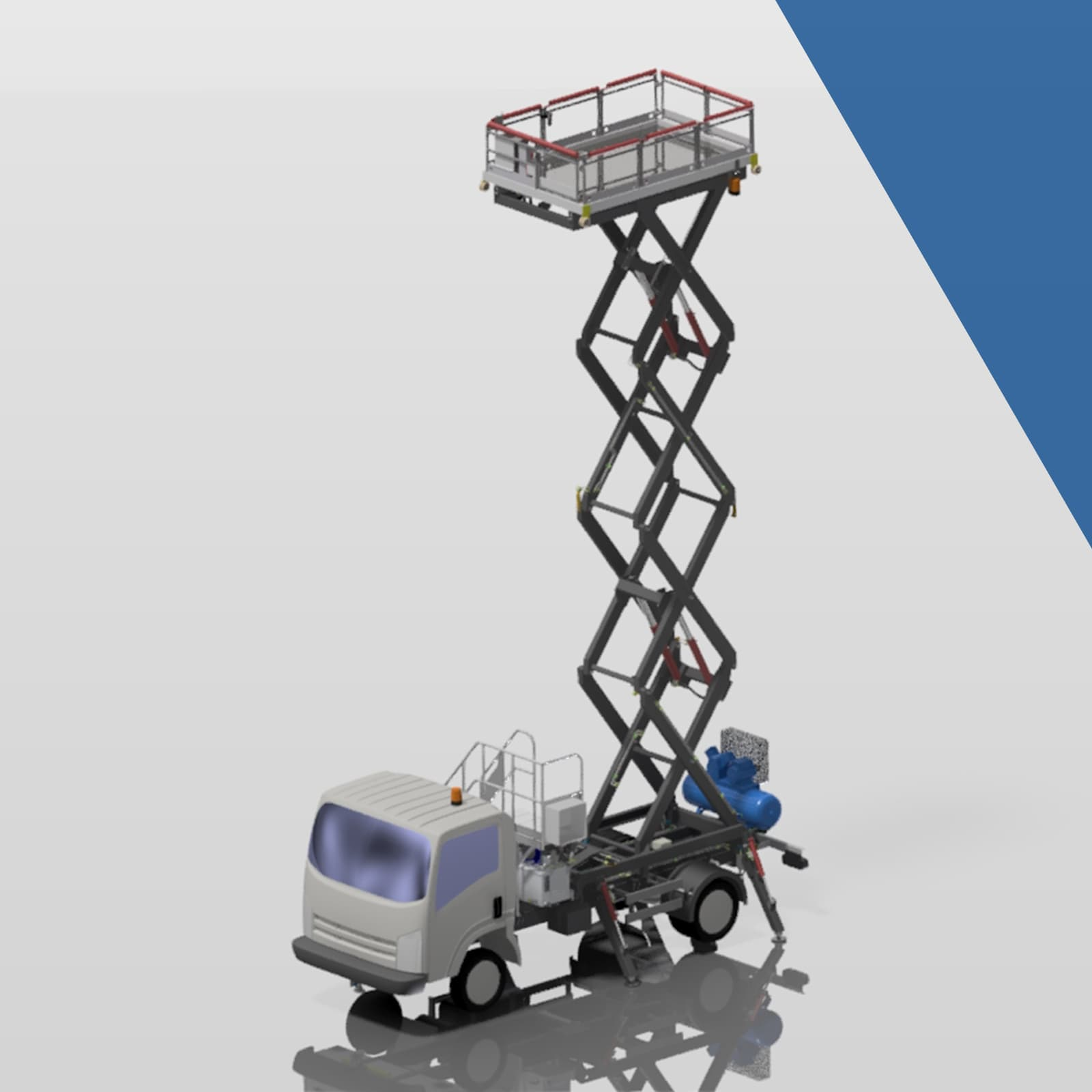 Small vehicle mounted scissor lifts